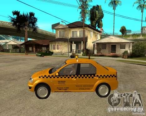 Dacia Logan Taxi Bucegi для GTA San Andreas вид слева