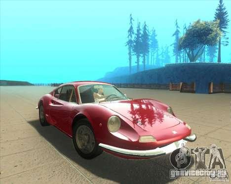 Ferrari Dino 246 GT для GTA San Andreas вид справа