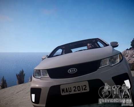 Kia Cerato Koup 2011 для GTA 4 вид сзади