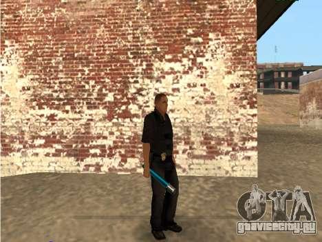 Chrome and Blue Weapons Pack для GTA San Andreas шестой скриншот