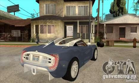 Spyker C12 Zagato для GTA San Andreas вид справа