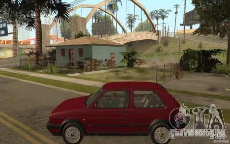 VW Golf Mk2 GTI для GTA San Andreas вид слева