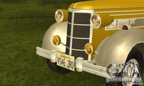 Ford DeLuxe Fordor Sedan V8 1938 для GTA San Andreas вид сзади слева