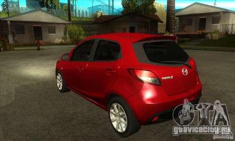 Mazda 2 2011 для GTA San Andreas вид сзади слева