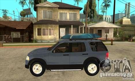 Ford Explorer 2004 для GTA San Andreas вид слева