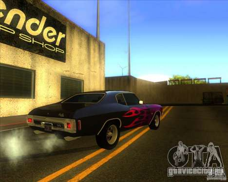 Chevy Chevelle SS stock 1970 для GTA San Andreas вид справа