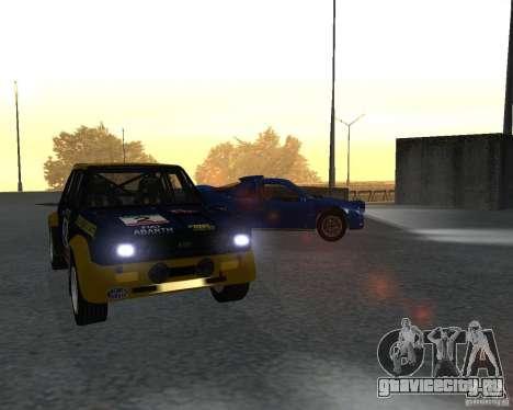 Fiat 131 Rally для GTA San Andreas вид слева