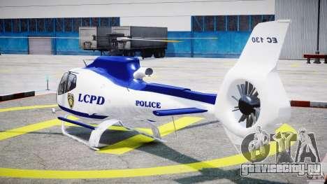 Eurocopter EC 130 LCPD для GTA 4 вид сзади слева