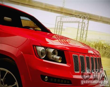 Jeep Grand Cherokee SRT-8 2012 для GTA San Andreas вид справа