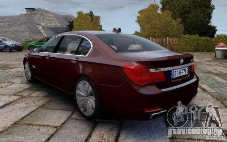 BMW 760Li 2011 для GTA 4 вид сзади слева