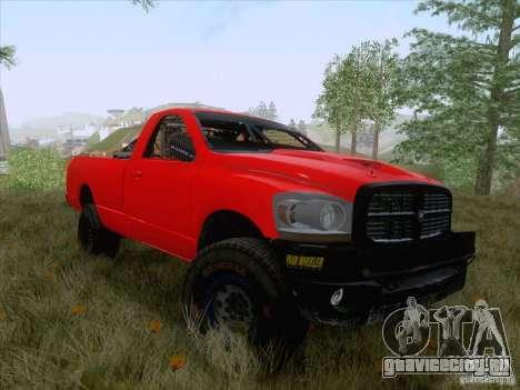 Dodge Ram Trophy Truck для GTA San Andreas вид сзади слева