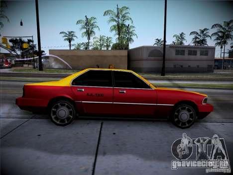 Sentinel Taxi для GTA San Andreas вид сзади слева