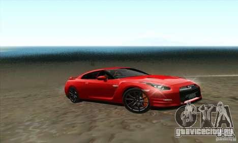 Nissan GT-R R-35 2012 для GTA San Andreas вид сзади слева