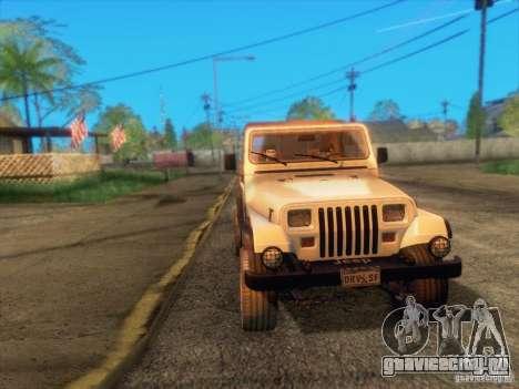 Jeep Wrangler 1994 для GTA San Andreas вид сбоку