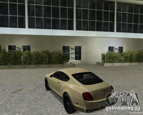 Bentley Continental SS для GTA Vice City вид справа