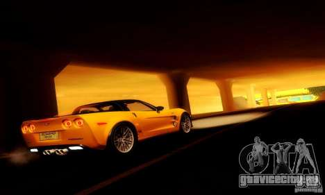 Chevrolet Corvette ZR-1 для GTA San Andreas вид изнутри