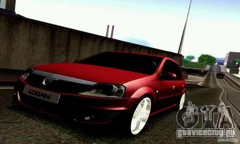 Dacia Logan 2008 для GTA San Andreas вид сзади слева