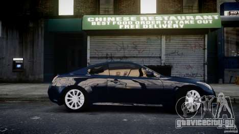 Infiniti G37 Coupe Sport для GTA 4 вид сзади