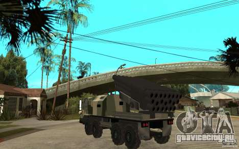 Missile Launcher Truck для GTA San Andreas вид сзади слева