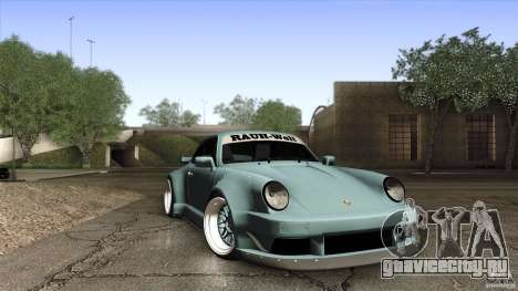 Porsche 911 Turbo RWB DS для GTA San Andreas вид изнутри