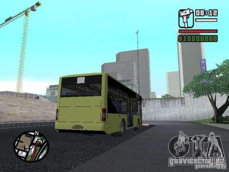 ЛАЗ А099 (СитиЛАЗ 8) для GTA San Andreas