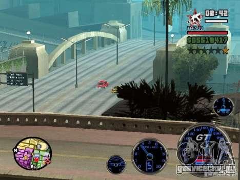 Speedometer GT для GTA San Andreas пятый скриншот
