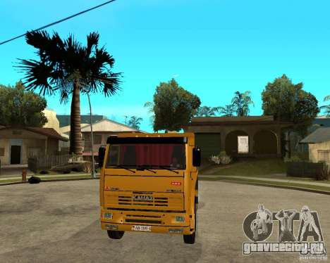 КамАЗ 6520 TAI для GTA San Andreas вид сзади