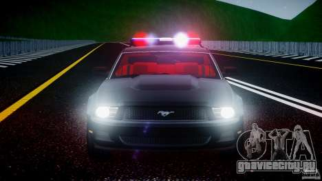 Ford Mustang V6 2010 Police v1.0 для GTA 4 вид снизу