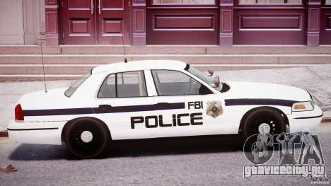 Ford Crown Victoria FBI Police 2003 для GTA 4 вид сверху