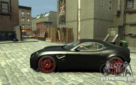 Alfa Romeo 8C Competizione v1 для GTA 4 вид слева