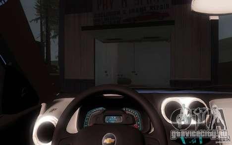 Chevrolet Agile 2012 для GTA San Andreas вид изнутри