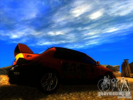 Mitsubishi Lancer Evolution IX MR для GTA San Andreas вид справа