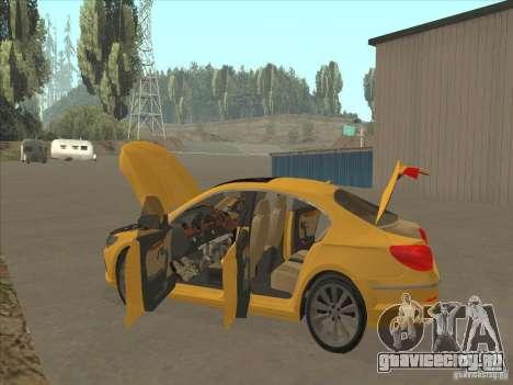 Volkswagen Passat CC для GTA San Andreas вид снизу