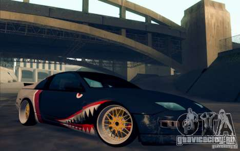 Nissan 300ZX Bad Shark для GTA San Andreas вид изнутри