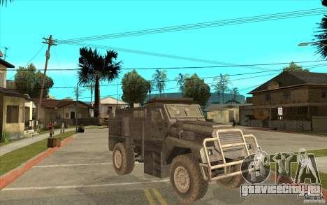 Military Truck для GTA San Andreas вид изнутри