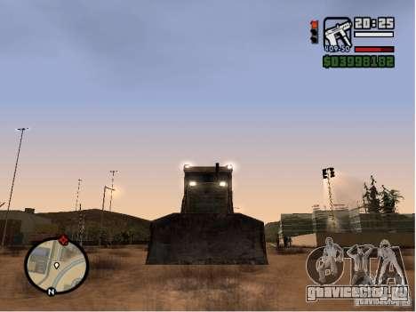 Bulldozer T 130 для GTA San Andreas вид сзади