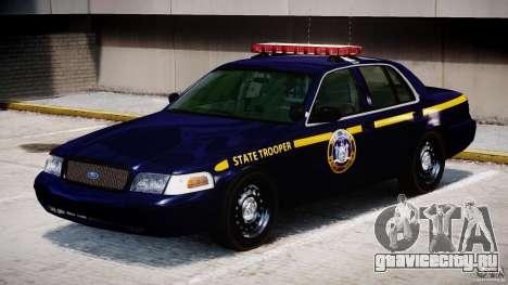 Ford Crown Victoria New York State Patrol [ELS] для GTA 4 вид слева