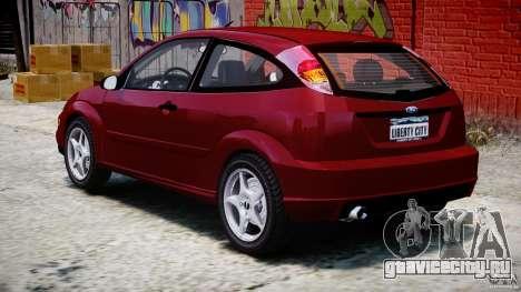 Ford Focus SVT для GTA 4 вид сбоку
