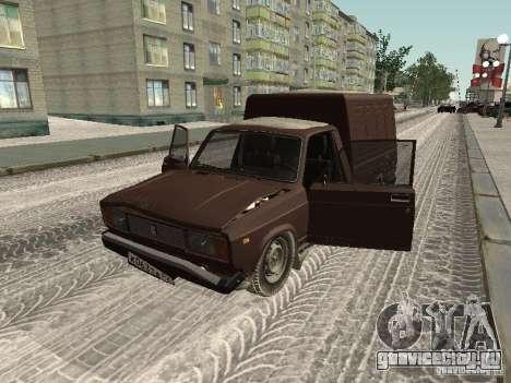 ИЖ 27175 Зимняя версия для GTA San Andreas вид сзади