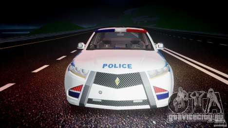 Carbon Motors E7 Concept Interceptor NYPD [ELS] для GTA 4 салон