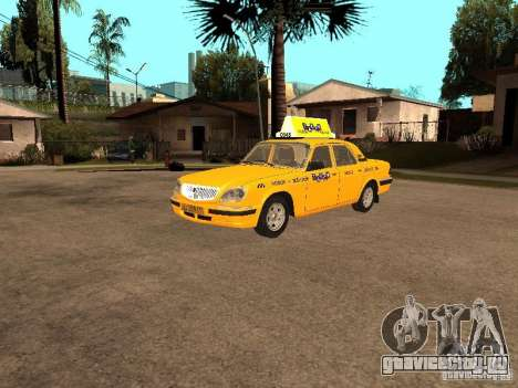 ГАЗ-31105 Волга Такси для GTA San Andreas вид сзади