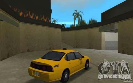 Chevrolet Impala Taxi для GTA Vice City вид справа