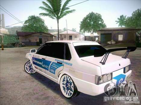ВАЗ 21099 Drift Style для GTA San Andreas вид сзади слева
