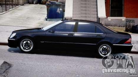Mercedes-Benz W220 для GTA 4 вид слева