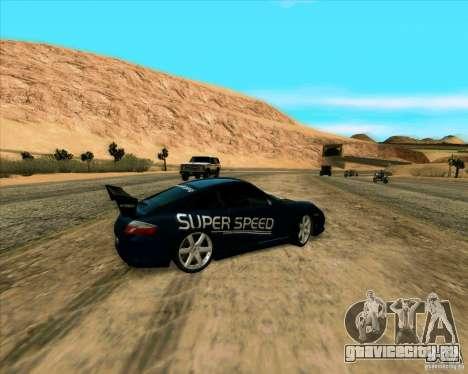 Porsche GT3 SuperSpeed TUNING для GTA San Andreas вид сзади слева