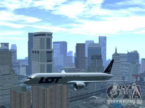 Boeing 787-9 LOT Polish Airlines для GTA San Andreas вид снизу