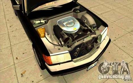Mercedes Benz 560SEL w126 1990 v1.0 для GTA San Andreas вид справа