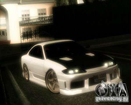 Nissan Silvia для GTA San Andreas вид изнутри