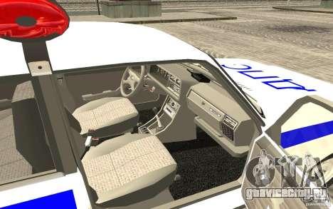 Ваз 2107 ДПС Полиция Жигули для GTA San Andreas вид сзади слева