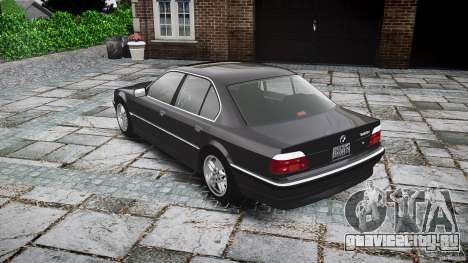 BMW 740i (E38) style 37 для GTA 4 вид сбоку